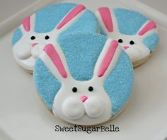 Bunny Cookies by Sugarbelle
