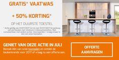 Dringend op zoek naar een nieuwe keuken? Zoek niet langer en kies voor een keuken van Dovy Keukens 😍   Je krijgt nu zelfs een gratis vaatwas EN 50% korting op het duurste toestel 😱