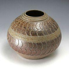 Pottery Folk Art // Ben Owen - 1992 Vase // North Carolina Handmade