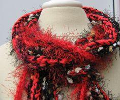 Soulful braids Gypsy Fringe Scarf skinny by PurpleSageDesignz, $ 20.00