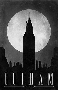 Superhero Home Cities, by Justin Van Genderen. http://42concepts.com/art/retro-posters-1-the-super-cities