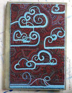 Украшаю жизнь: вышитые бисером обложки на блокноты, Цикл статей про вышивку бисером.