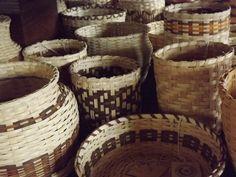 Cherokee baskets at the Qualla