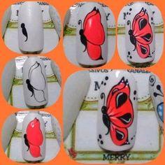 Animal Nail Designs, Nail Decorations, 3d Nails, Beauty Bar, Beauty Nails, Nail Art, Flowers, Stickers, Easy Nail Art