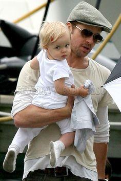 hot dad: Brad Pitt