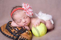 softball newborn session Www.shannonscollection.com Mount Washington, Louisville, and Bardstown KY newborn photographer