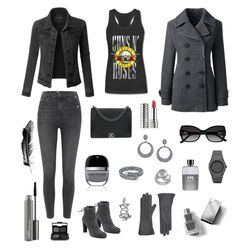 """""""Grey Zone 📁🐺🗄🐺📁"""" by melissa-kyhlenso on Polyvore featuring LE3NO, River Island, Stuart Weitzman, Chanel, Lands' End, Marc Jacobs, Burberry, Gucci, Swarovski and Sheryl Lowe"""