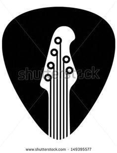Guitar Pick - stock vector
