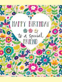 Happy Birthday to a Special Friend - Birthday Card by Rachel Ellen Designs