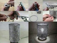10 DIY Handmade Easy and Creative Gift Ideas 7 - DIY & Home diy craft gifts - Diy Do It Yourself Projects, Diy Projects To Try, Craft Gifts, Diy Gifts, Pop Cans, Idee Diy, Unique Lamps, Lampshades, Diy Lampshade