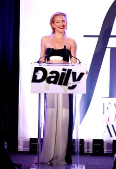 """EXCLUSIVE COVERAGE Actress Kate Hudson speaks onstage during The Daily Front Row """"Fashion Los Angeles Awards"""" 2016 at Sunset Tower Hotel on March 20, 2016 in West Hollywood, California."""