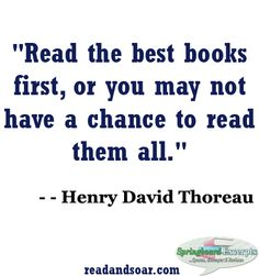 Book Quote - Henry David Thoreau