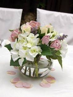 fish bowl flower centerpieces - Google Search