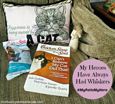 Melissa's Mochas, Mysteries and Meows: My Heroes Have Always Had Whiskers #MyPetIsMyHero #ad