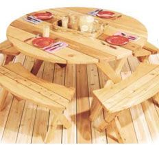 Woodworking Plans & Projects - Round Picnic Table Project Plan
