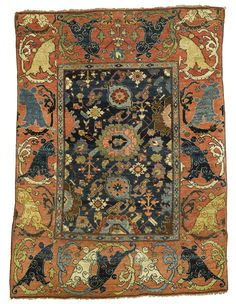 A BIDJAR WAGIREH, NORTH PERSIA Wool Warp Approximately 6ft. By 4ft. 7in. Asian  RugsBoho ...