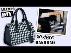 Diy Bag and Purse diy purse Diy Bags Tutorial, Handbag Tutorial, Diy Handbag, Diy Backpack, Diy Tote Bag, Diy Purse, Diy Bags Purses, Purses And Handbags, Diy Bag Video