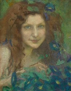 Julie Wolfthorn : Girl with Blue-Green Eyes 1899