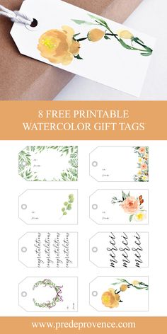These artfully crafted watercolor gift tags are perfect for wedding presents, birthday gifts, baby showers, thank you gifts, going away … Thank You Tag Printable, Free Printable Gift Tags, Free Printables, Thank You Tags, Birthday Tags, Birthday Gifts, Wedding Gift Tags, Birthday Presents For Her, Engagement Parties
