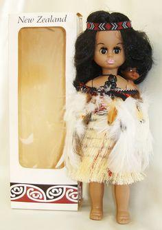 NEW ZEALAND - a boxed Maori doll with child. www.worldcostumedolls.com