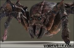Creepy Hungry Monster Spiders! by voreville_dotcom
