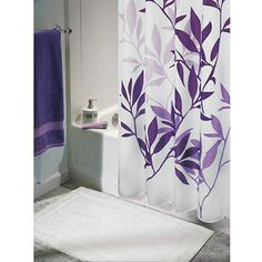 InterDesign Shower Curtain, Leaves Another possible option for a shower curtain for future bathroom.  I think i would do it in either blue or gray.