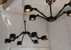 """Bolt"" Lamp Installation by Tonone. Industrial Lighting, Kitchen Lighting, Modern Lighting, Track Lighting, Concrete Interiors, Shine Your Light, Interior Styling, New Homes, Ceiling Lights"