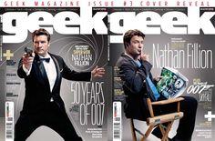 Nathan Fillion Geek magazine covers