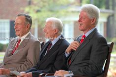Laughing Celebrities | ... Carter,Bill Clinton, Former Presidents USA Laughing By Jonathan Green