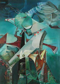 Enrico Donati, 'Tower of the Alchemist: Partie de l'ultrason,' 1947, Weinstein Gallery