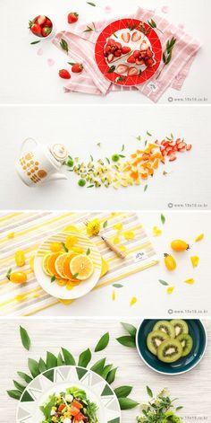 [텐바이텐] Fresh Table // photographer_youngju.lee / stylist_areum.son Food Photography Styling, Food Styling, Photography Poses, Dm Poster, Food Menu Design, Food Banner, Food Illustrations, Food Art, Food Inspiration