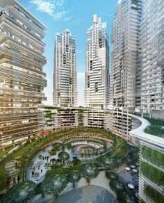 K2 Park, mixed use complex in Serpong area. 4 apartment towers, 1 education center, 1 Hotel and Mall.