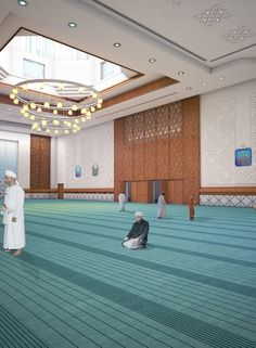 Al Hail Green Mosque – Yaghmour Architects Mosque Architecture, Architecture Board, Modern Architecture, Wood Cladding, Beautiful Mosques, Moroccan Interiors, Inside Design, Ceiling Design, Prayer Room