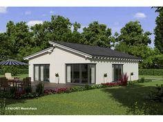 Chalet 86 - Einfamilienhaus von Bau Braune Inh. Sven Lehner | HausXXL #Massivhaus #Bungalow #modern #Pultdach
