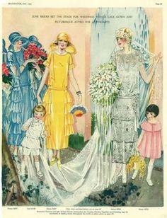 Flapper Wedding, 1920s Wedding, Wedding Bride, Flapper Style, Wedding Tips, Vintage Dresses, Vintage Outfits, Vintage Fashion, Vintage Clothing