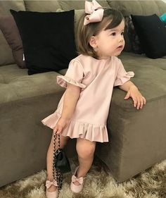 The Hidden Facts About Lovely Baby Girl Clothes Winter Ideas The One Thing to Do for Lovely Baby Girl Clothes Winter Ideas Now, if you. Dresses Kids Girl, Toddler Girl Outfits, Toddler Fashion, Kids Fashion Summer, Outfits Niños, Kids Outfits, Winter Outfits For Girls, Little Girl Fashion, Boy Fashion