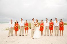lovely beach wedding color palette  http://thingsfestive.blogspot.com/2012/10/real-beach-wedding-on-anna-maria-island.html