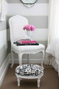 White, Grey & Pink Room. Luscious boudoirs. More lusciousness at www.myLusciousLife.com