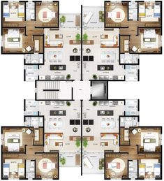 home decor architect interior exterior Residential Building Plan, Modern Residential Architecture, Architecture Plan, Building Plans, Duplex Floor Plans, Hotel Floor Plan, Apartment Floor Plans, Architectural Floor Plans, Condo Design