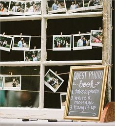 photo guest book idea / http://www.deerpearlflowers.com/creative-polaroid-wedding-ideas/2/