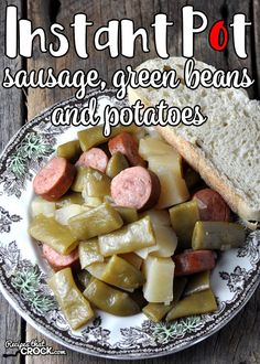 We've taken on of our family favorite crock pot recipes and made it into an instant pot recipe. And we love this Instant Pot Sausage, Green Beans and Potatoes recipe!