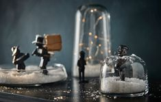 Are you looking for ideas for decorating your living room this holiday? Make your own snow globe using a jar. IKEA offers a lot of different glass jars and vases, such as VINTER 2017 vase/tealight holder in clear glass.