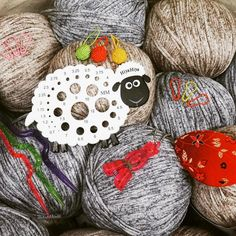 HiyaHiya Sheep Needle Gauge and Small Yarn Ball Stitch Markers We love this picture which from @brownberryyarns ! Here's some quirky #HiyaHiya accessories and Lanas Stop Spray Yarn, all available at www.brownberryyarns.co.uk --- @brownberryyarns (Instagram Name) said.