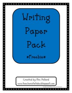 Writing paper, some with prompt idea some blank...numerous choices!