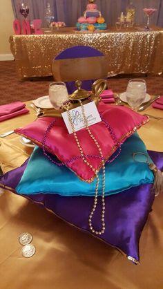 Aladdin theme..handmade centerpieces 3deventsandplanning.com