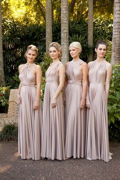 Goddess By Nature Pastel Bridesmaids Dresses