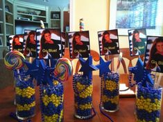 Graduation Centerpiece Ideas   Graduation centerpieces- Go Blue! by malinda