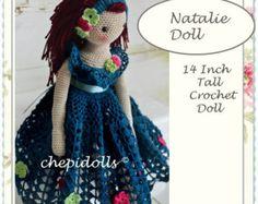 Ähnliche Artikel wie GEHÄKELTE Puppe, fertigen Puppe, Sammel Puppe, Amigurumi Puppe, Plüsch Puppe, ♥ auf Etsy