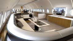 While most private-jet manufacturers boast about their wide range of choices for interiors, Airbus is offering a simpler option for busy buyers: off-the-shelf interior designs.
