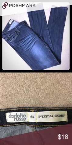 NWOT everyday skinny jeans Brand new, never worn.. No tag, size 6L **price firm** Charlotte Russe Jeans Skinny